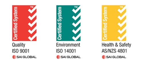 Manpower Certified System for Quality ISO 9001, Environment ISO 14001, Health & Safety AS/NZS 4801