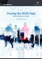 The cover for the Closing the Skills Gap report.